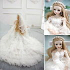 60cm 1/3 BJD Doll Girls with Makeup Changeable Eyes Dress Full Set Outfit Toys