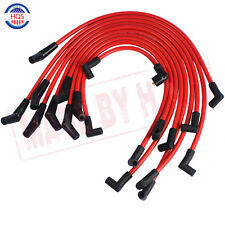 Red 10.5mm Racing Spark Plug Wires Set for Ford F-150 Mustang 5.0L 5.8L SB SBF