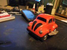 plastic  windup toy,  HONG KONG  70'S  vw  beetle   bug..........4inch  >>  #1