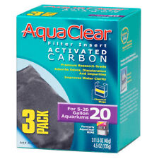 HAGEN Aquaclear Activated Carbon 3 Pack Articles Filter Media 18-76L / 5-20 G