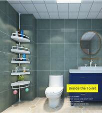 Corner Shelf Bathroom Organizer 4 Tier Telescopic Storage Shower Basket Non Rust