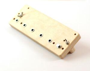 Bohrlehre Lochreihe für System 32 mm Möbelbau Bohrschablone Schablone Regal Holz