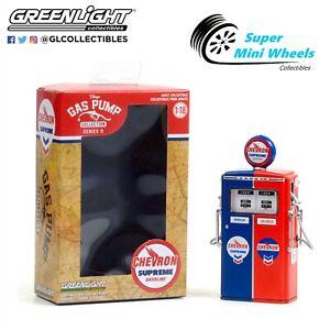Greenlight 1:18 Vintage Gas Pumps 1954 Tokheim 350 Twin Gas Pump Chevron Supreme