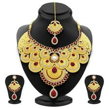 Bollywood Indian Earring Fashion Ethnic Bridal Jewelry Wedding Necklace Set