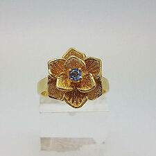 Beautiful 18ct Gold Sapphire Flower Ring.  Goldmine Jewellers.