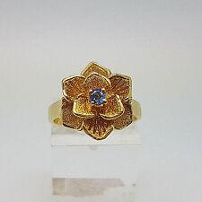 Beautiful 18ct Gold Sapphire Flower Ring.  Goldmine Jewellers.