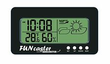 FUNcaster Barometer Ambient Weather Clock, Golf Cart, Boat, Office, Home, Patio