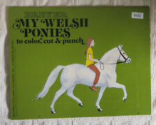 Breyer Book My Welsh Ponies Book, to color, cut and punch - Flockie 1973
