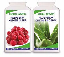 Raspberry Ketone Plus Aloe Ferox Cleanse and Detox 100% Natural 180 Diet Pills