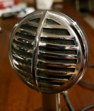 LOOK! Vintage RARE Astatic Model 30 Crystal harp microphone biscuit with stand!