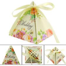 contenant à dragées  mariage baptême boîte cartonné ballotin florale .lot 10pcs