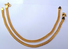 "Indian Gold Plated 10"" Payal Foot Chain Anklet Women kid SET ABDG"