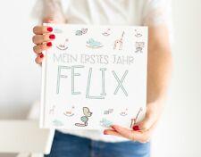 Babybuch zum Eintragen, Babytagebuch, Mein erstes Jahr - personalisiert,
