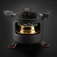 Outdoor Camping Picnic Mini Burner Alcohol Stove Cookware W/ Stand Portable