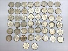 1962 Canada 50 Cent Silver Half Dollar Pieces - lot of 50 coins