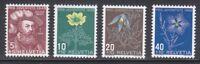 Switzerland 1949 MNH Mi 541-544 Sc B187-B190 Flowers.Niklaus Wengi,reformer
