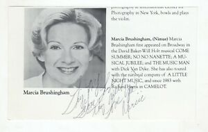 Marcia Brushingham Cut Signature! Autograph! Broadway! The Music Man Come Summer