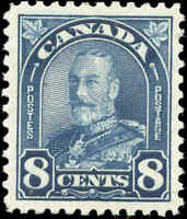 1930 Mint H Canada VF Scott #171 8c King George V Arch/Leaf Stamp