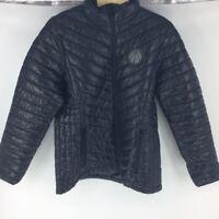 Washington Wizards Levelwear Womens Puffer Jacket Metallic Zip Up Lined L New