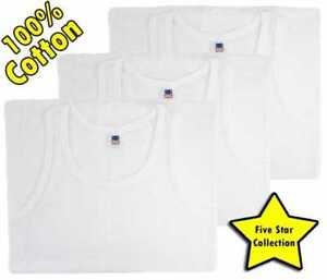 New Men's White 100% Cotton Eyelet Singlet Vests mesh vest Sleeveless Summer Gym