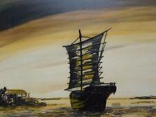 Barco de aceite en el océano enumerados artista J Passeur 1964 Envío Gratis A Inglaterra