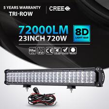"TRI ROW 23""INCH 720W CREE LED LIGHT BAR SPOT FLOOD OFFROAD LAMP 4WD DRIVING CAR"