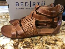Bed Stu Free People Anthro Leather Capriana Gladiator Sandal In Cognac NEW Sz 11