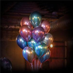 "12"" Metallic Pearl Chrome Latex Balloons for Wedding Birthday Party Baloons UK"