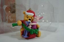 Disney Winnie The Pooh Christmas Ornament Pooh & Piglet with rocking horse