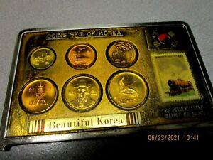 Coins Set of Korea 1988 Olympic Stamp: '88 The Souvenier of Korea Tour