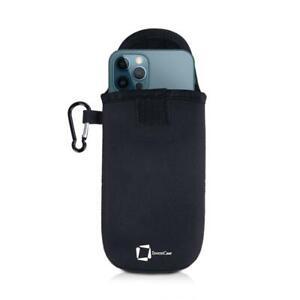 GENUINE INVENTCASE BLACK NEOPRENE POUCH CASE BAG FOR APPLE IPHONE 12 PRO MAX