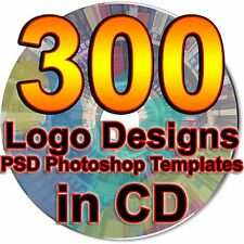 300 Logo Design PSD Photoshop Templates Graphics Fully Layered Fonts Included CD