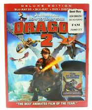 DREAMWORKS HOW TO TRAIN YOUR DRAGON 2 DELUXE EDITION BLU-RAY 3D HD DIGITAL DVD