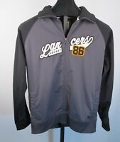 Vtg Omaha LANCERS Hockey Track Jacket Mens Sz L  Zip Gray Black Coat Top