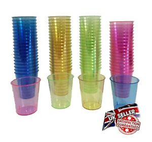 320 Shot Glasses Coloured Party Jelly 30ml Cups Hen Stag Birthday Party Shots