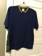 "Adidas Pull Over Mens Blus short sleeve shirt size M ""stripes"""