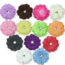 13x Hot Sale Beautiful Peony Crystal Head Hat Flower Hair Clip Pin Girl Lady New