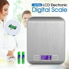 Lcd Stainless Kitchen Cooking Food Electronic Digital Scale Weight 5kg 1g Asb