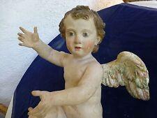 Nr.2 von 2 Putto Barock Engel Polychr. Fassung 48cm meisterhafte Bildhauerarbeit