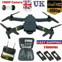 Drone X Pro WIFI FPV 1080P HD Camera 3 Batteries Foldable Selfie RC Quadcopters