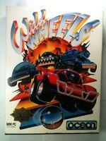 "Wild Wheels Pc Game Vtg Ocean Tandy 5.25"" Disk 1991 In Box Car 2 Car Combat EAD"