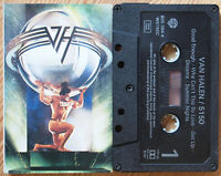 VAN HALEN - 5150 (WARNER 9253944) 1986 EUROPE CASSETTE TAPE VG+ HAIR METAL ROCK