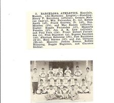 Barcelona Athletics Honolulu 1953 Baseball Team Picture
