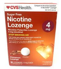 CVS 4mg Cinnamon Sugar Free 96 Nicotine Lozenges Exp 11/21
