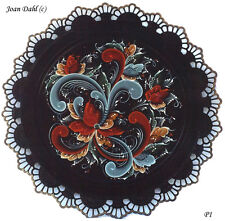 Black Plate Rosemaling Pattern Package, FREE SHIPPING, Stock #37P