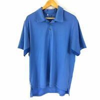 Adidas Golf Clima Cool Polo Shirt Men Large Blue Stripes Short Sleeve Active