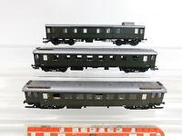 CJ852-1# 3x Roco H0/AC Wagen NEM DRG: C4i/73627+B4i/25013+Pw4i/112089, Mängel