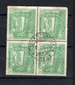 CHILE small town cancel CURANILAHUE on block of 4