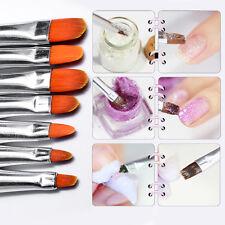 7pcs Nail Art Brushes Design Gel Painting Dot Pen Polish Set Tool Kit Brush New