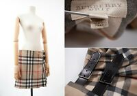 Women's BURBERRY BRIT Nova Check Plaid Beige Skirt USA-10, UK-12 , ITA-44